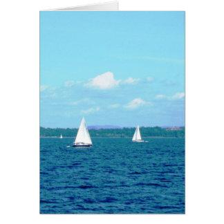 """""""湖Champlainのヨット"""" カード"""