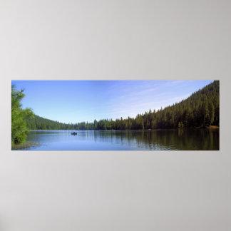 湖Juanitaのボート ポスター