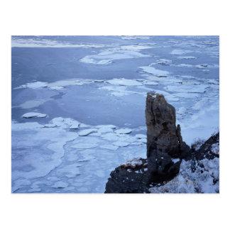湖Notori 2の流氷 ポストカード