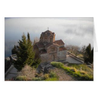 湖OhridのSt. Jovan教会 カード