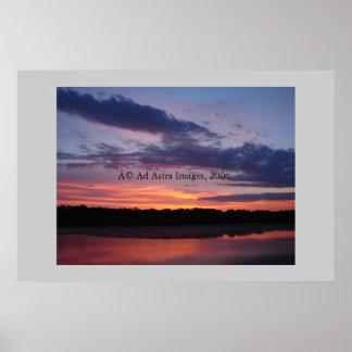 湖Olatheの日の出 ポスター