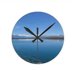 湖Tekapo、ニュージーランド ラウンド壁時計