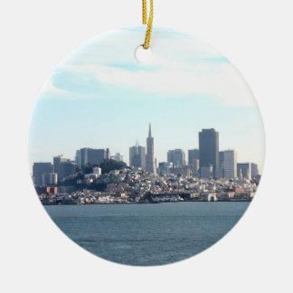 湾からのサンフランシスコ都市眺め セラミックオーナメント