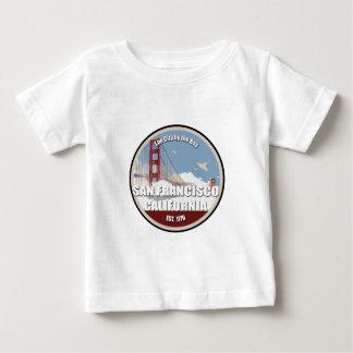 湾による都市、サンフランシスコカリフォルニア ベビーTシャツ