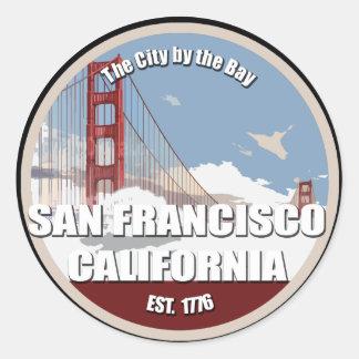 湾による都市、サンフランシスコカリフォルニア ラウンドシール