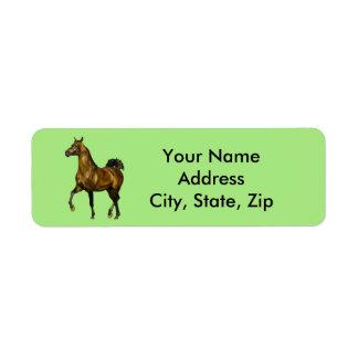 湾のアラビア人の馬 ラベル