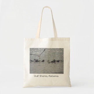湾のカモメは、アラバマ旅行戦闘状況表示板支えます トートバッグ