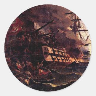 湾のトルコの旗艦の攻撃 ラウンドシール