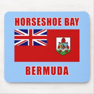 湾のバミューダ島の蹄鉄Tシャツ、ギフト マウスパッド
