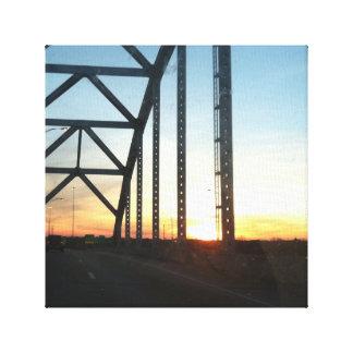 湾のブリッジ・ドライブ キャンバスプリント