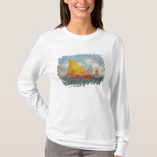 湾のヨット Tシャツ