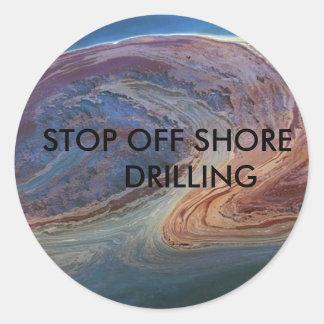 湾の油2は海岸の訓練を離れて、      ストップ ラウンドシール