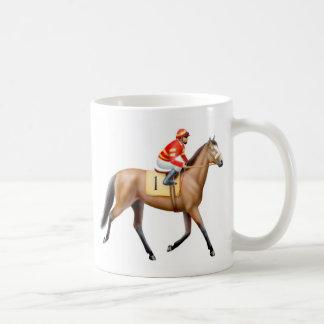 湾の純血種の競馬馬のマグ コーヒーマグカップ