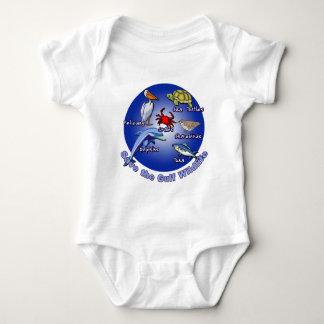 湾の野性生物のTシャツを救って下さい ベビーボディスーツ