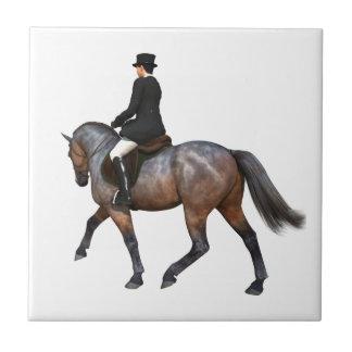 湾の馬場馬術の馬のタイル タイル