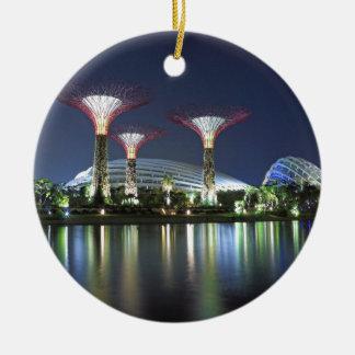湾シンガポールによる庭 セラミックオーナメント