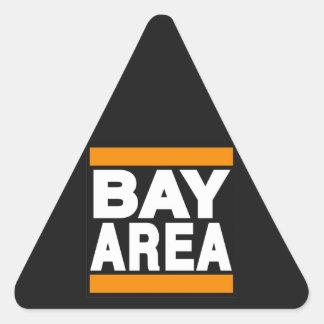 湾区域のオレンジ 三角形シール