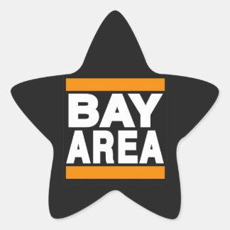 湾区域のオレンジ 星シール