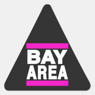 湾区域のピンク 三角形シール