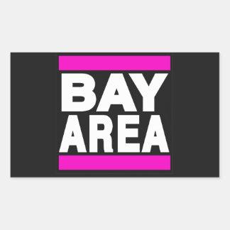 湾区域のピンク 長方形シール