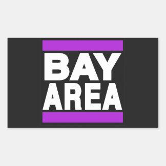 湾区域の紫色 長方形シール