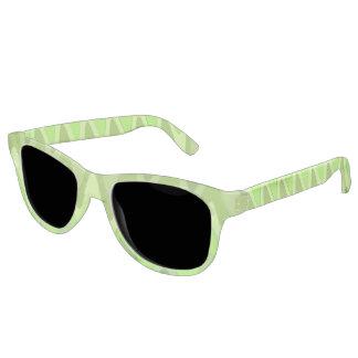 湾曲の波パターン-緑の組合せ + あなたのアイディア サングラス