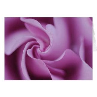 湾曲の紫色のバラNotecard カード