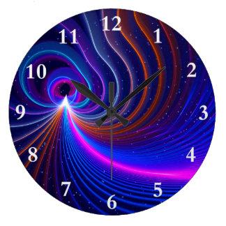 湾曲 ラージ壁時計