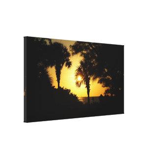 湾海岸のフロリダの日没 キャンバスプリント