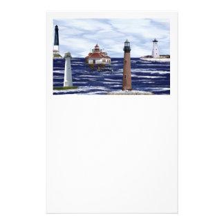 湾海岸の灯台 便箋