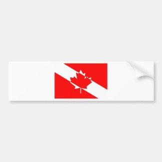 満たされた白い飛び込みカナダ バンパーステッカー