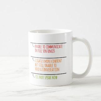 満たしますラインを今話すことができます コーヒーマグカップ