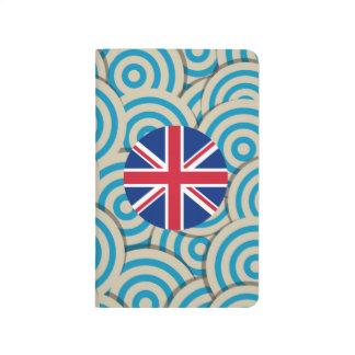 満ちているおもしろいイギリスの円形の旗 ポケットジャーナル