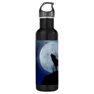 満月のオオカミ ウォーターボトル
