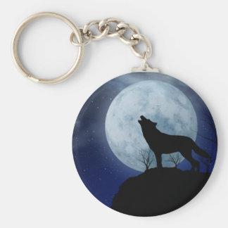 満月のオオカミKeychain キーホルダー