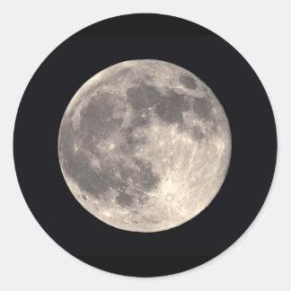 満月のステッカー ラウンドシール