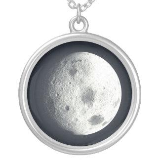満月のネックレス シルバープレートネックレス