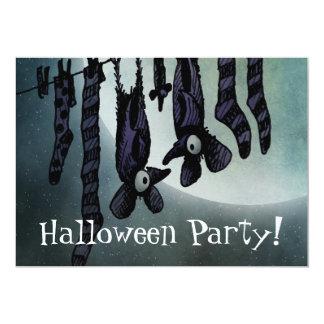 満月のハロウィンのおもしろいなこうもりのカスタムなパーティー カード