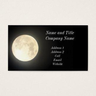 満月のビジネスまたはプロフィールカード 名刺