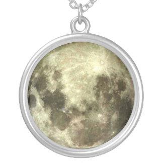 満月の南半球のネックレス シルバープレートネックレス
