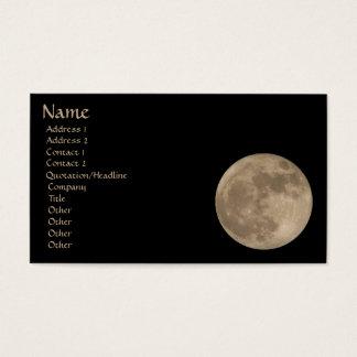 満月の名刺はあなたのカードを個人化します 名刺