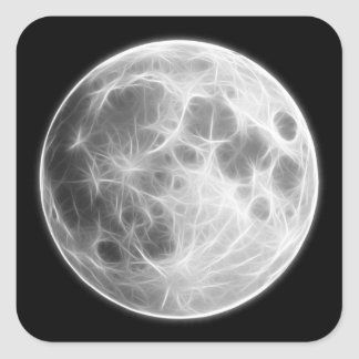 満月の月の惑星の地球 スクエアシール