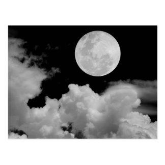 満月は白黒を曇らせます ポストカード