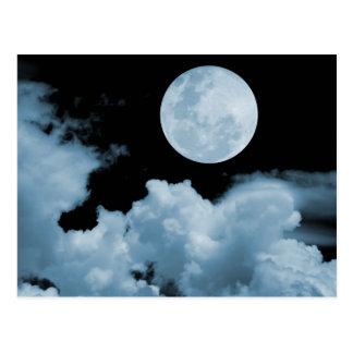 満月は青を曇らせます ポストカード