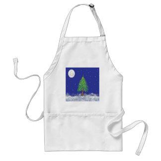 満月を持つSnowyの常緑樹 スタンダードエプロン