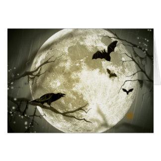 満月ハロウィン カード