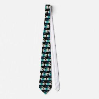満月及びヤシの木 オリジナルネクタイ