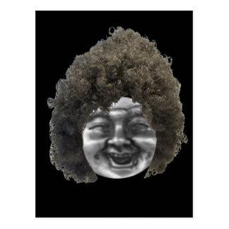 満月様顔貌の女性 ポストカード