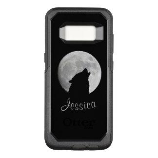 満月、あなたの名前で遠ぼえしているオオカミ オッターボックスコミューターSamsung GALAXY S8 ケース