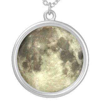 満月 シルバープレートネックレス